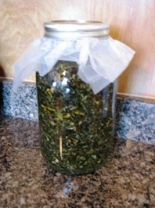 Preparing a new herbal oil for the next batch