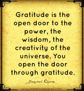 gratitude opens door